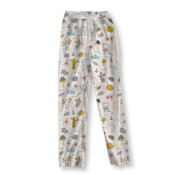 Mice And Snails Pajama Pants