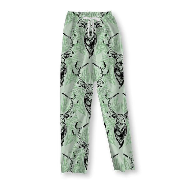 Deer Portrait Pajama Pants