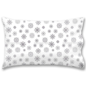Shapes Of Snowflakes Pillow Case