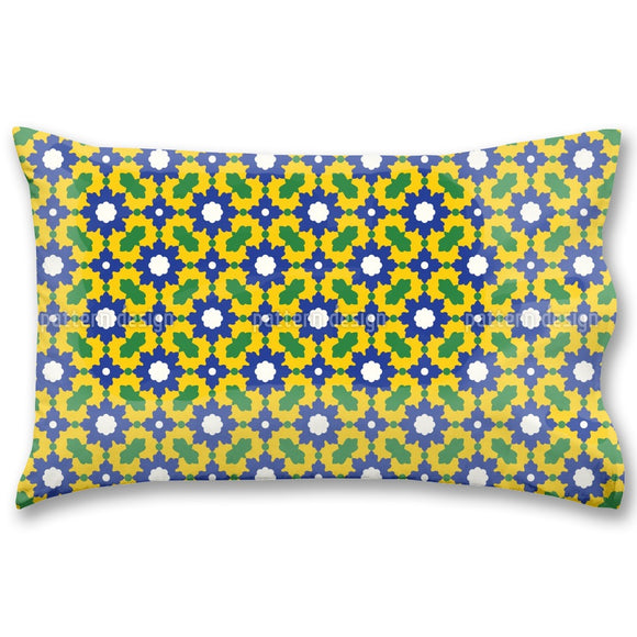 Arabic Floral Mosaic Pillow Case