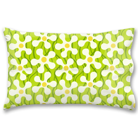 Groovie Daisies With Stalks Pillow Case