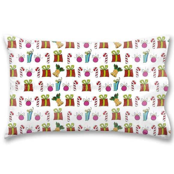 Christmas Presents And Candy Sticks Pillow Case