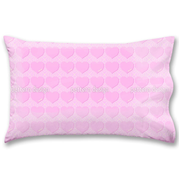 Angular Hearts Pillow Case