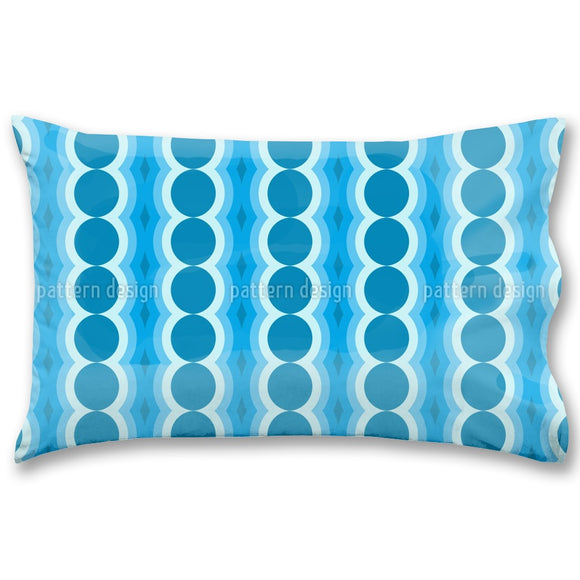 Oscillating Circles Pillow Case