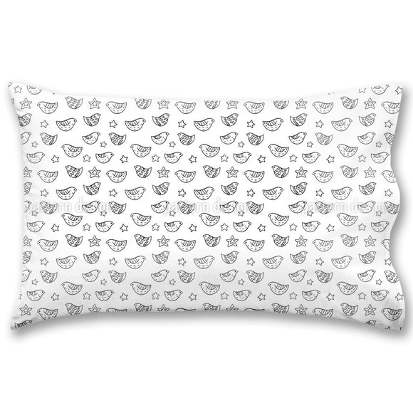 Birds And Stars Pillow Case