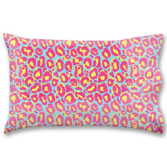Colorful Leopard Skin Pillow Case