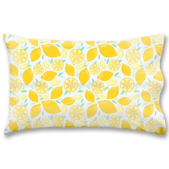 Fresh And Juicy Lemons Pillow Case