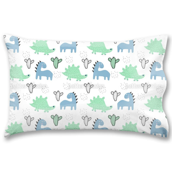 Dinosaurs And Cacti Pillow Case