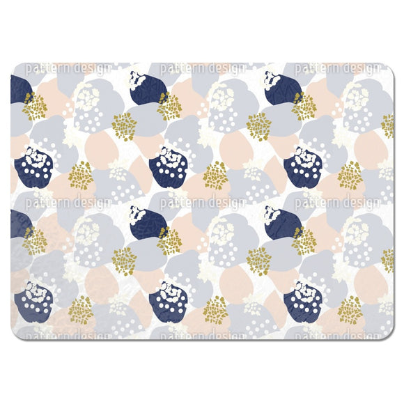 Abstract Hydrangea Flowers And Leaves Placemats