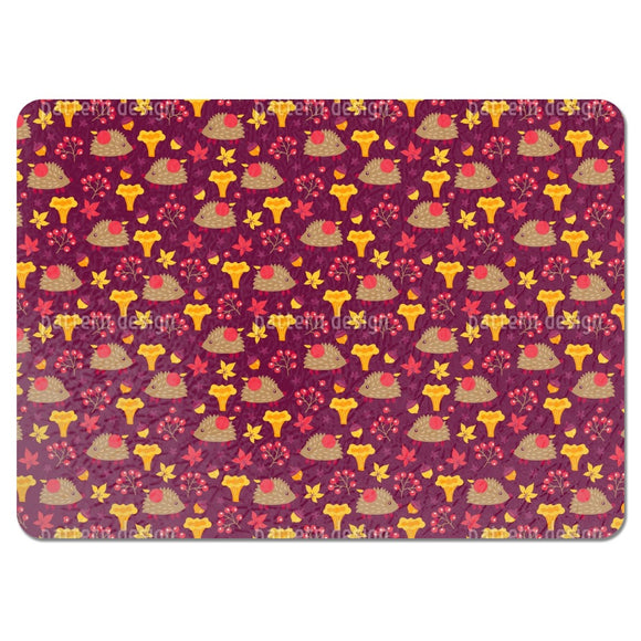 A Hedgehog On A Forest Trip Placemats