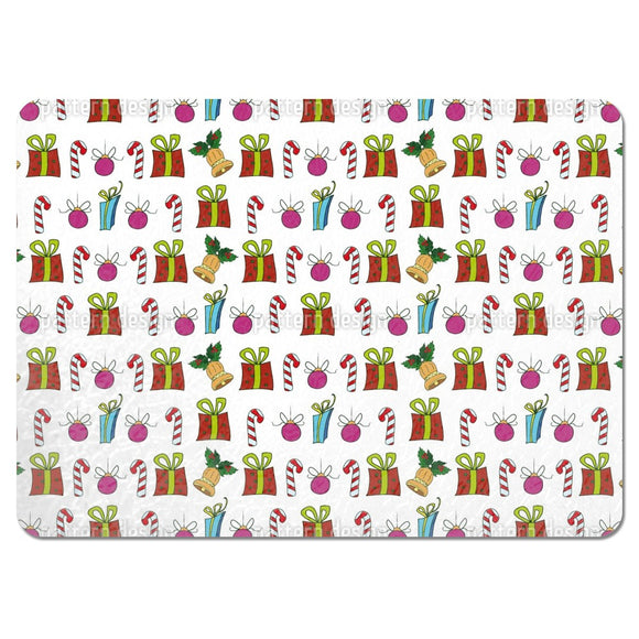 Christmas Presents And Candy Sticks Placemats