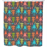 Cute Robots Shower Curtain