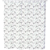 Bunnies and Flowers Shower Curtain