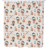 Lumberjack And Forest Friends Shower Curtain