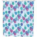 Blue Balloons Shower Curtain