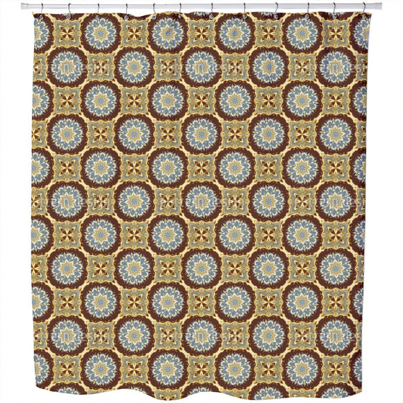 Mandalas And Tiles Shower Curtain