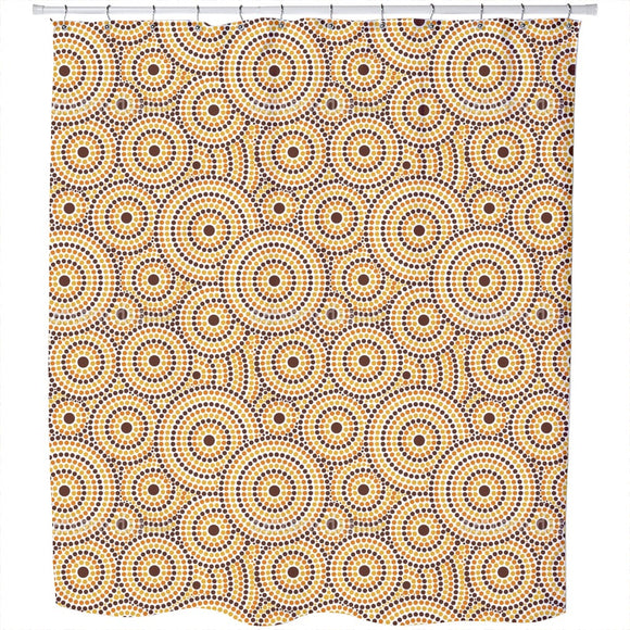 Aboriginal Dots Shower Curtain
