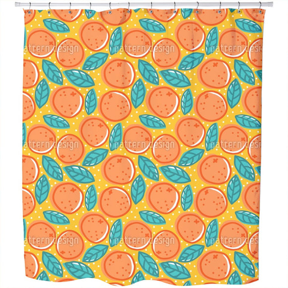 Orange Salad Shower Curtain