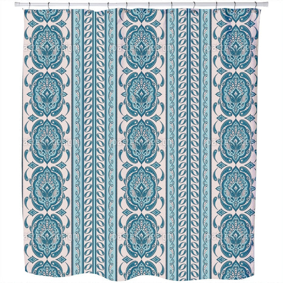 Paisley And Border Shower Curtain