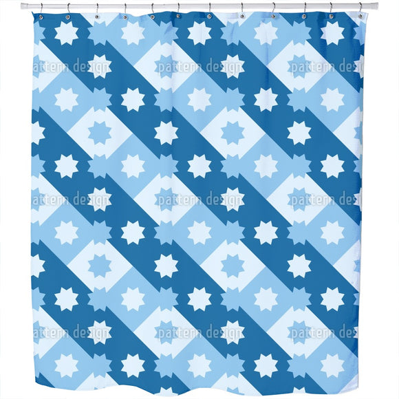 Line Of Stars Shower Curtain