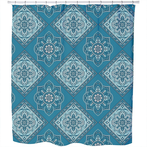 Tiled Indian Paisley Shower Curtain