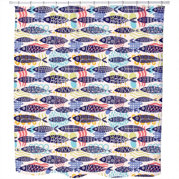 Fish Shapes  Shower Curtain