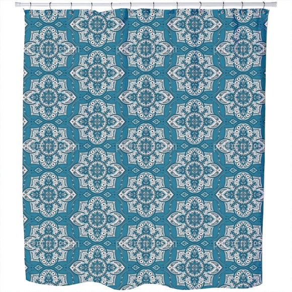 Mandala With Paisley Flower Shower Curtain