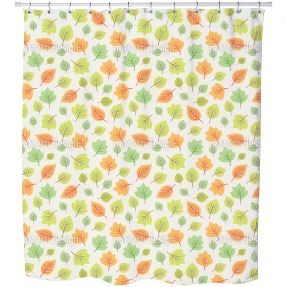 Colorful Leaves Mix Shower Curtain