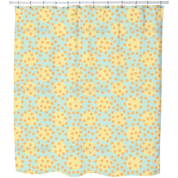 Chaotic Polka Dots Shower Curtain