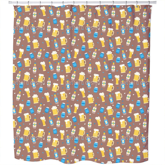 Octoberfest Beer Shower Curtain