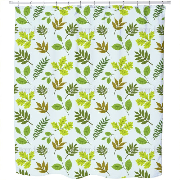 Mix Of Leaves Shower Curtain