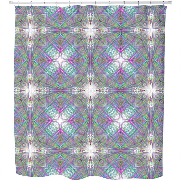 Psychedelic Cross Shower Curtain