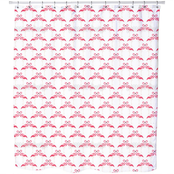 Flamingo in Love Shower Curtain