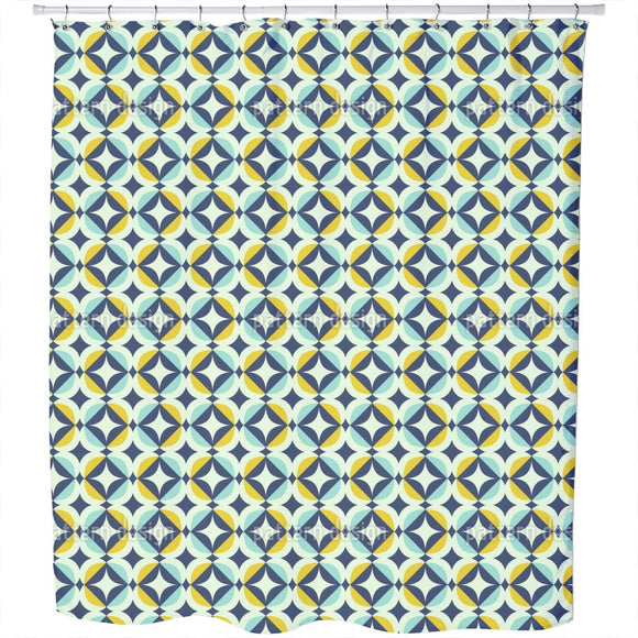 Scandinavian Retro Shower Curtain