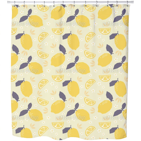 Summer Lemons Shower Curtain