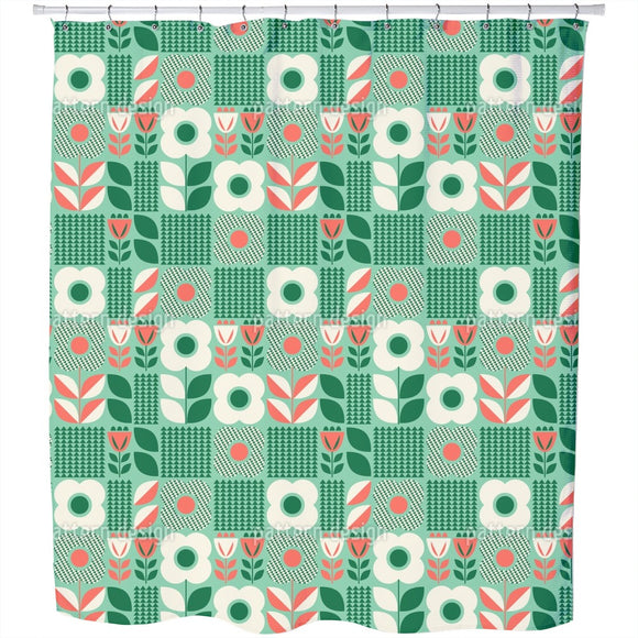 Retro Scandinavian Shower Curtain