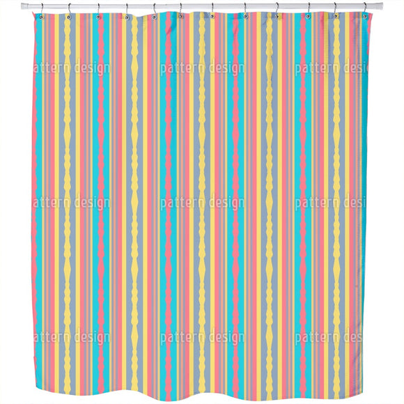Border Mix Shower Curtain
