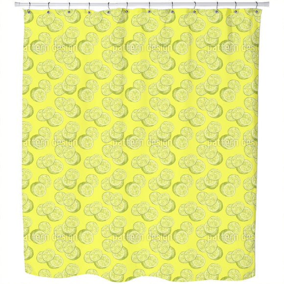 Lemon Sketch Shower Curtain