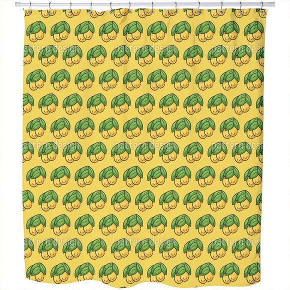 Lemononic Friends Shower Curtain