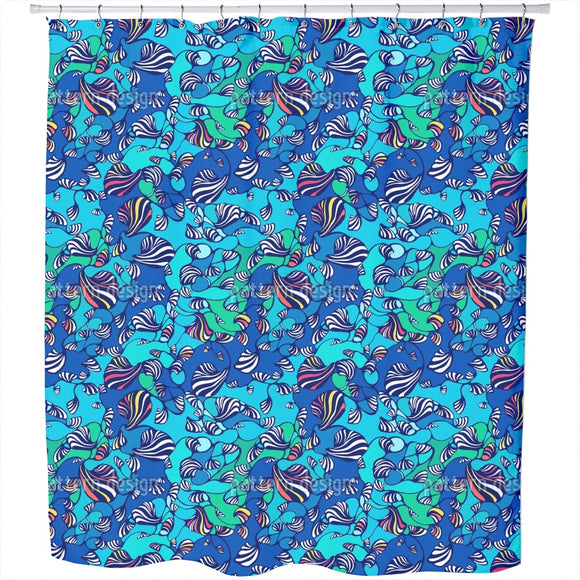 Movement in the Ocean Shower Curtain