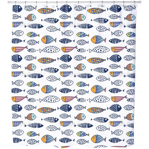 Crazy Fish Shower Curtain