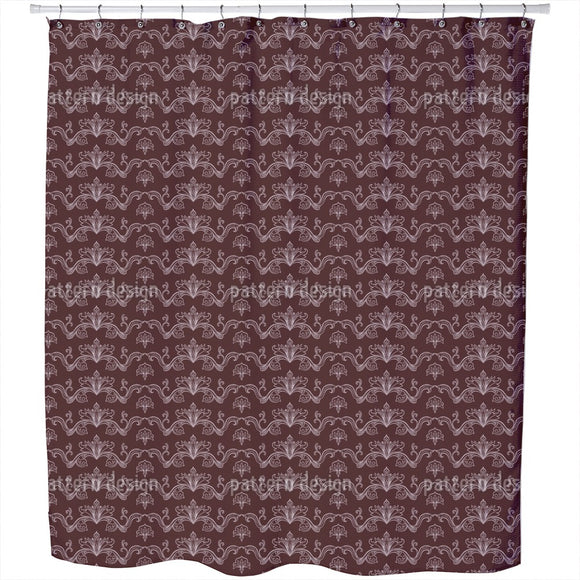 Linked Arabesque  Shower Curtain