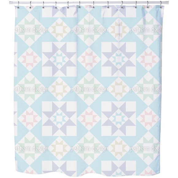 Nordic Stars Shower Curtain