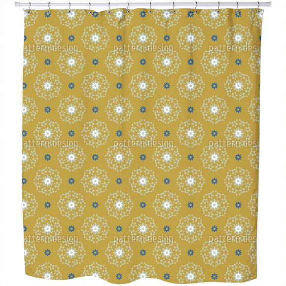 About Dots And Banchlets Shower Curtain