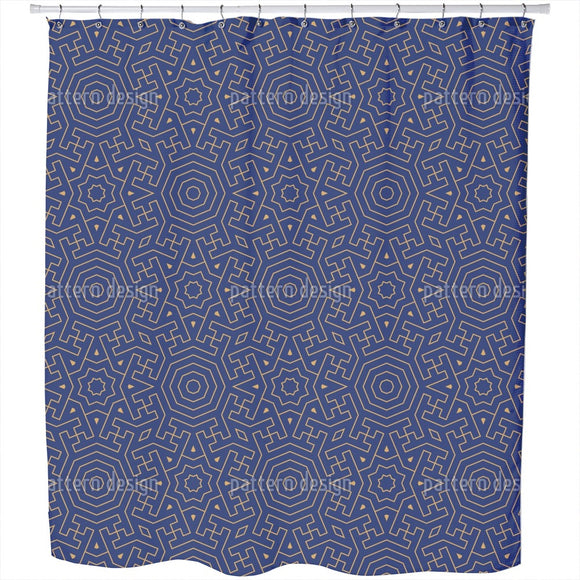 Moroccan Labyrinth Shower Curtain