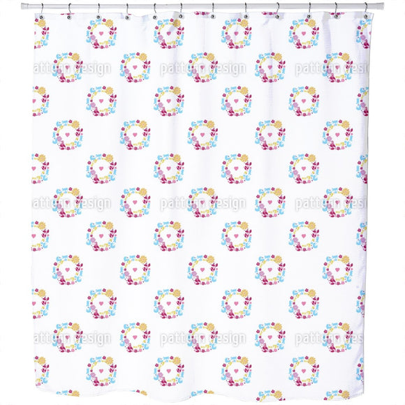 Cute Wreath Shower Curtain