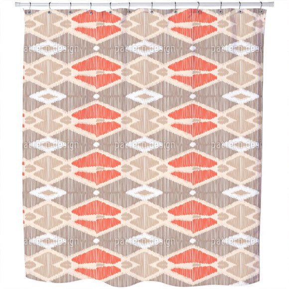 Ikat Geometry Shower Curtain