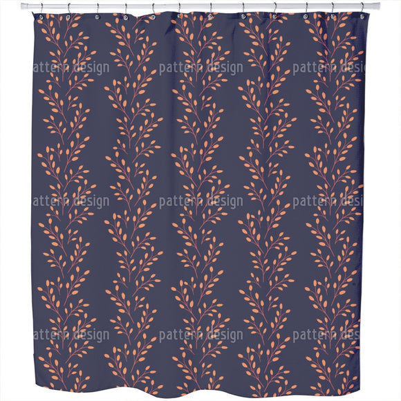 Barberry Twigs Shower Curtain