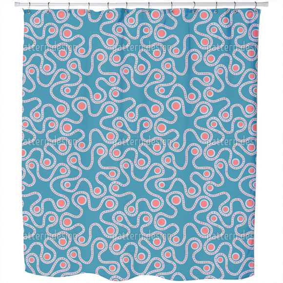 Abstract Enzymes Shower Curtain