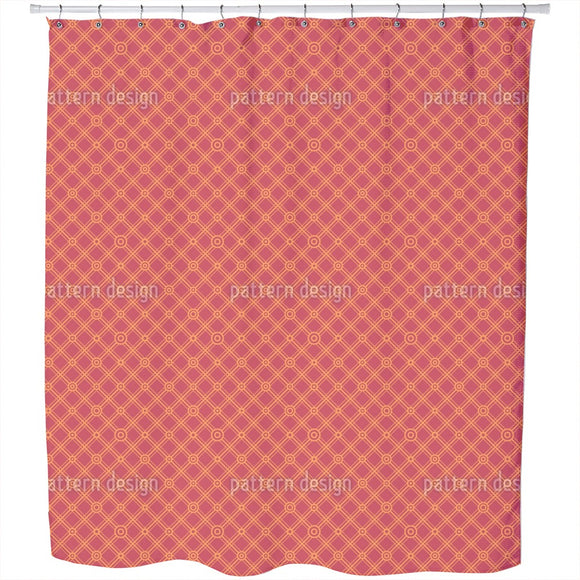 Strict Angled Grid Shower Curtain
